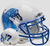 Memphis Tigers Alternate White Chrome Schutt Mini Authentic Helmet