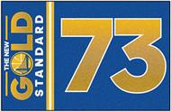 FANMATS NBA Golden State Warriors Nylon Face Starter Rug - GOLD STANDARD 73 WIN NBA RECORD