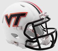 VIRGINIA TECH HOKIES Matte White NCAA Riddell Revolution SPEED Mini Football Helmet