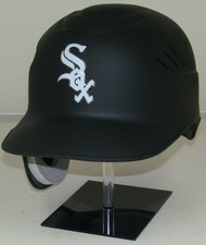 Chicago White Sox Matte Black Rawlings Coolflo REC Full Size Baseball Batting Helmet