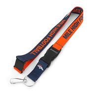 NFL Denver Broncos Slogan Lanyard Fan Keychain