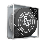 Dallas Stars Sherwood Official NHL Game Puck in Cube