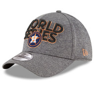 Houston Astros New Era 2017 World Series Locker Room 39THIRTY Flex Hat - Heather Gray, Men's