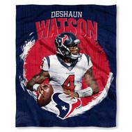 """NFL Deshaun Watson Houston Texans Silk Touch Throw Blanket Size 50"""" x 60"""""""