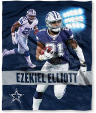 "NFL Ezekiel Elliott Dallas Cowboys Silk Touch Throw Blanket Size 50"" x 60"""