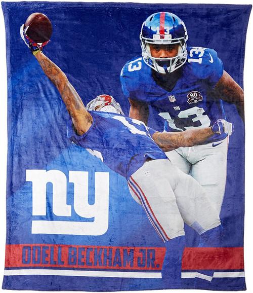 nfl odell beckham jr new york giants silk touch throw blanket size