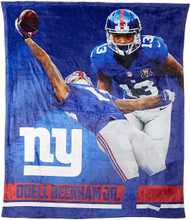 "NFL Odell Beckham Jr. New York Giants Silk Touch Throw Blanket Size 50"" x 60"""