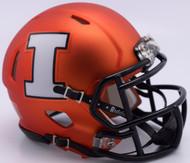 Illinois Fighting Illini 2017 Pearl Orange NCAA Riddell SPEED Mini Helmet