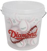 Diamond 18 Tee Ball Baseballs and Bucket Combo (includes 18 DFX-LC1 OL Flexiballs)