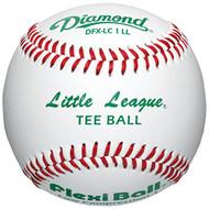 Flex-Ball Low Impact Safety Little League Tee Balls for Kids Baseball (3-Pack)