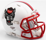 North Carolina State Wolfpack Alternate White Tuffy NCAA Riddell SPEED Mini Helmet