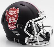North Carolina State Wolfpack Alternate Black Tuffy NCAA Riddell SPEED Mini Helmet