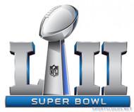 "2018 Super Bowl LII (52) 2"" Logo Pin"