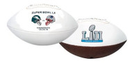 Super Bowl 52 Dueling Youth Size Football New England Patriots vs. Philadelphia Eagles