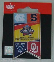 2016 NCAA Final Four Large Banner Pin Oklahoma North Carolina Syracuse Villanova