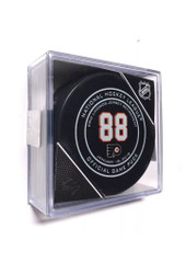 Philadelphia Flyers Eric Lindros Retired Jersey Official NHL Game Puck in Cube