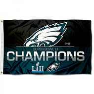 Philadelphia Eagles Super Bowl LII 52 Champions Deluxe Banner Flag - 3' X 5'