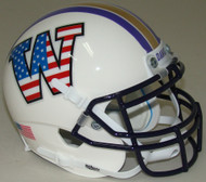 Washington Huskies Alternate Patriotic Schutt Mini Authentic Helmet