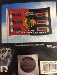 Officially Licensed NHL 2015 Chicago Blackhawks 6-Time Champions Banner Flag - 3 x 5