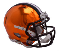Cleveland Browns Riddell Speed Mini Helmet - Chrome Alternate
