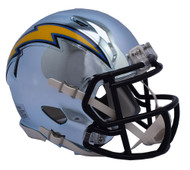 Los Angeles Chargers Riddell Speed Mini Helmet - Chrome Alternate