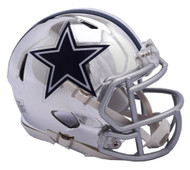 Dallas Cowboys Riddell Speed Mini Helmet - Chrome Alternate