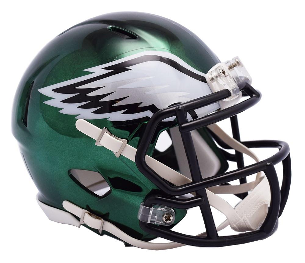 f969c3357 Philadelphia Eagles Riddell Speed Mini Helmet - Chrome Alternate. Riddell.  Image 1