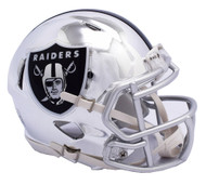 Oakland Raiders Riddell Speed Mini Helmet - Chrome Alternate