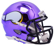 Minnesota Vikings Riddell Speed Mini Helmet - Chrome Alternate
