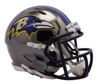 Baltimore Ravens Riddell Speed Mini Helmet - Chrome Alternate