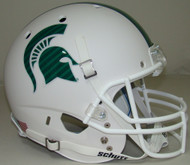 Michigan State Spartans Matte White Schutt Full Size Replica Helmet