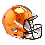 Cleveland Browns Speed Riddell Replica Full Size Helmet - Chrome Alternate