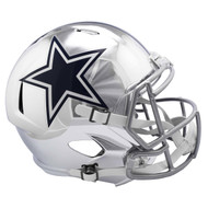 Dallas Cowboys Speed Riddell Replica Full Size Helmet - Chrome Alternate