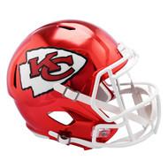 Kansas City Chiefs Speed Riddell Replica Full Size Helmet - Chrome Alternate