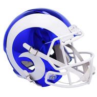 Los Angeles Rams Speed Riddell Replica Full Size Helmet - Chrome Alternate