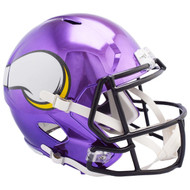 Minnesota Vikings Speed Riddell Replica Full Size Helmet - Chrome Alternate