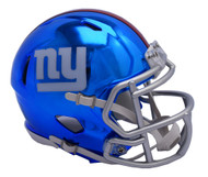 New York Giants Speed Riddell Replica Full Size Helmet - Chrome Alternate