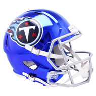 Tennessee Titans Speed Riddell Replica Full Size Helmet - Chrome Alternate