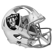 Oakland Raiders Speed Riddell Replica Full Size Helmet - Chrome Alternate