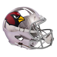 Arizona Cardinals Speed Riddell Replica Full Size Helmet - Chrome Alternate