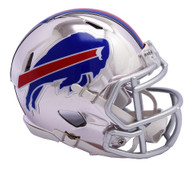 Buffalo Bills Speed Riddell Replica Full Size Helmet - Chrome Alternate