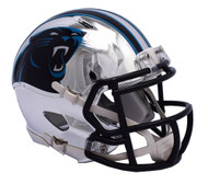 Carolina Panthers Speed Riddell Replica Full Size Helmet - Chrome Alternate
