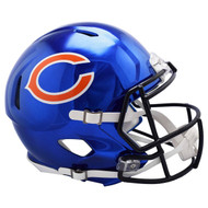 Chicago Bears Speed Riddell Replica Full Size Helmet - Chrome Alternate