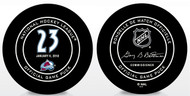 Milan Hedjuk #23 Colorado Avalanche Special Retirement Official NHL Game Puck in Cube