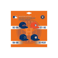 Houston Astros MLB On-Field Cap Timeline Enamel Lapel Pin Set