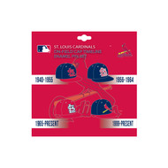St. Louis Cardinals MLB On-Field Cap Timeline Enamel Lapel Pin Set