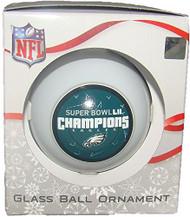 Philadelphia Eagles Super Bowl LII Champions Glass Ball Christmas Ornament