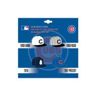 Chicago Cubs MLB On-Field Cap Timeline Enamel Lapel Pin Set