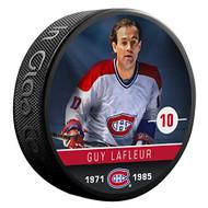 Guy Lafleur (Montreal Canadiens) The Alumni Product Line Souvenir Hockey Puck