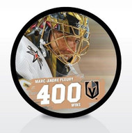 Marc-Andre Fleury Las Vegas Golden Knights Special 400 Wins Milestone Souvenir Hockey Puck